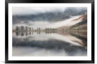 Char Hut in the Mist, Framed Mounted Print