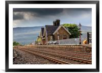 Ribblehead Railway Station North Yorkshire England, Framed Mounted Print
