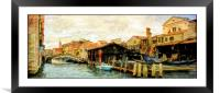 Canal Life Venice, Framed Mounted Print