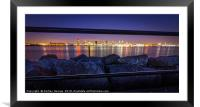 The night lights of Liverpool City, Framed Mounted Print