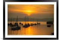 Outer Harbour Sunset, Framed Mounted Print