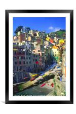 Riomaggiore, Italy, Framed Mounted Print