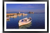The Harbour at Nafplio, Framed Mounted Print