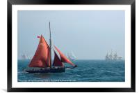 The Jolie Brise in the Tall Ships' Race, Framed Mounted Print