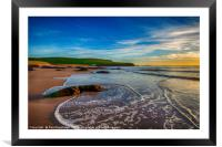 The Incoming Tide at Bantham Beach, Framed Mounted Print