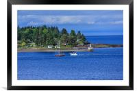 Point in Nanaimo, Framed Mounted Print