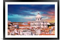 Iconic Lisbon Church, Framed Mounted Print