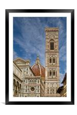 Il Duomo and Bell Tower, Framed Mounted Print