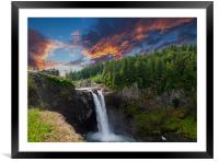 Snoqualmie Falls Early Morning, Framed Mounted Print