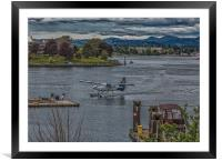 Harbour Air in Victoria, Framed Mounted Print