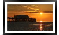 Sun Rise at Worthing Pier  , Framed Mounted Print