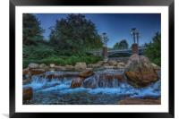 Worlds Fair Park Waterfalls, Framed Mounted Print