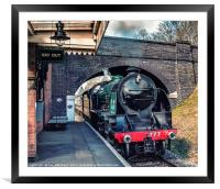 Steaming Through, Framed Mounted Print