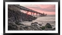 Sunset Clevedon Pier, Framed Mounted Print