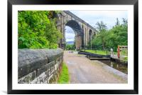 Lock, towpath, viaduct, Framed Mounted Print