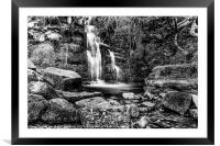 Waterfalls from Wales, Framed Mounted Print