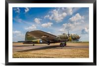 Boeing B-17G Fortress II 44-85784 G-BEDF, Framed Mounted Print