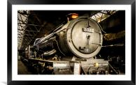 In Didcot Engine Shed - 6023, Framed Mounted Print