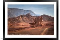the valley view point in timna national park in so, Framed Mounted Print