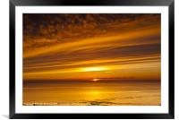 Sunset, Solway Firth, Dumfriesshire, Scotland, win, Framed Mounted Print