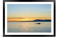 Sunset, Skye, Point of Sleat, Cullin mountains, Framed Mounted Print