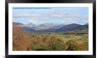 Across the Eskdale Valley, Framed Mounted Print