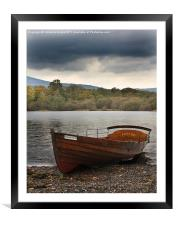 Row boat on Derwentwater, Framed Mounted Print