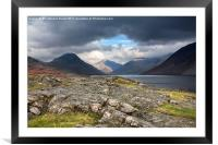 The Peaks of Wastwater, Framed Mounted Print