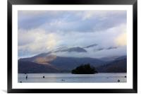 Low cloud over the Langdales, Framed Mounted Print