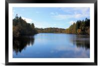 Autumn reflections on Tarn Hows, Framed Mounted Print