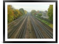 Off the rails, Framed Mounted Print