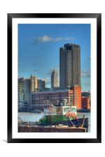 The Oxo Tower 9, Framed Mounted Print