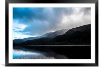 Banks of Loch Lubnaig in Scotland, Framed Mounted Print
