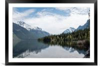 Lake McDonald with Forest and Mountain Reflections, Framed Mounted Print