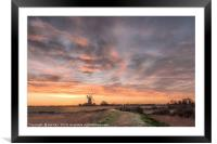 Midwinter Sunrise  -  Tower Windmill , Framed Mounted Print