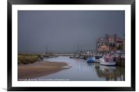 An Evening Scene at Blakeney   Norfolk, Framed Mounted Print