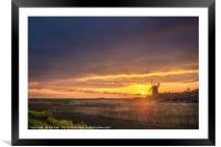 Sunrise and a Dark Sky, Framed Mounted Print