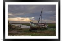 The Wreck at Thornham Staithe, Framed Mounted Print