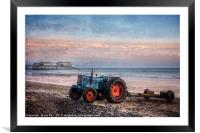 Waiting for the Fishing Boats, Framed Mounted Print