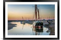 The Sailing Barge Juno, Framed Mounted Print
