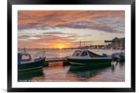 Harbour at Sunrise, Framed Mounted Print