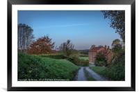 Dawn at the Mill, Framed Mounted Print