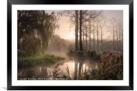 The River Wensum Winter Sunrise, Framed Mounted Print