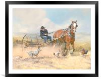 The Troublesome Chickens, Framed Mounted Print