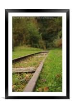 On the Tracks, Framed Mounted Print