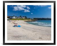 Gyllyngvase Beach Falmouth Cornwall, Framed Mounted Print