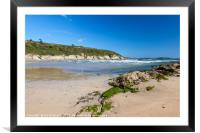 Maenporth Beach Falmouth Cornwall England, Framed Mounted Print