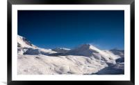 Ski resort panorama, Framed Mounted Print