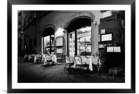 Italian Restaurant in Lucca, Italy, Framed Mounted Print