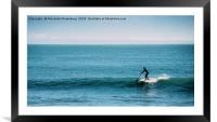 Standup Paddle Silhouette, Framed Mounted Print